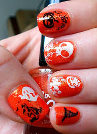 13 halloween nail art looks painted fingertips