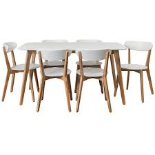 Oslo Bathroom Furniture by Long White Oslo 7 Piece Dining Set Temple U0026 Webster