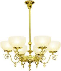 Gas Chandelier Astoria 6 Light Gas Chandelier With 4 Fitters House Of Antique