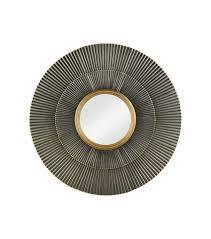 ls plus round mirror finish gold highlights round wall mirror