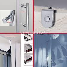 hinge full frame easy clean coating tempered glass shower door