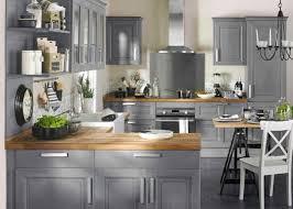 cuisine grise et étourdissant cuisine bois gris et cuisine gris clair et bois