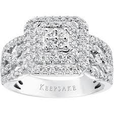 sterling silver engagement rings walmart keepsake limited edition 2015 1 2 carat t w sterling