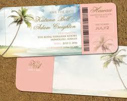 wedding invitations hawaii hawaii save the date etsy