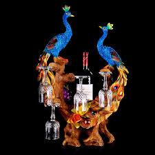 unique barware unique wine holder the peacock shape creative big wine rack