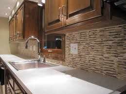 terracotta backsplash tiles cardell cabinets closed silestone