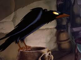 halloween raven background black and white raven snow white and the seven dwarfs disney wiki fandom