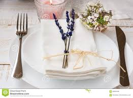 Romantic Table Settings Romantic Table Setting Wedding Lavender White Small Flowers