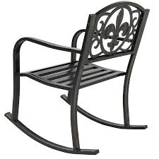 Iron Rocking Patio Chairs Amazon Com Best Choice Products Patio Metal Rocking Chair Porch