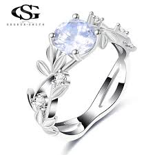 girls wedding rings images Gs silver color crystal flower wedding rings for women girls jpg
