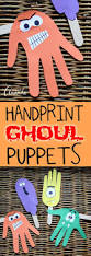 handprint puppets for halloween ghoulish fun for kids recipe