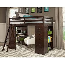 canwood skyway twin loft bed with desk u0026 storage tower espresso
