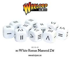 roamn numeral numeral dice warlord