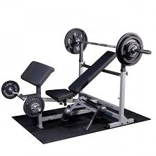 weight bench set with bar and weights bench decoration
