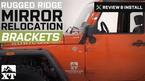 jeep wrangler rugged ridge mirror relocation brackets 2007 2017