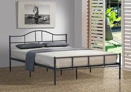 budget cheap jovy queen size dark grey metal bed frame queen beds