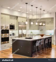 beautiful kitchen interior new luxury home stock photo 315797972