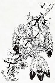 compass catcher tattoos i