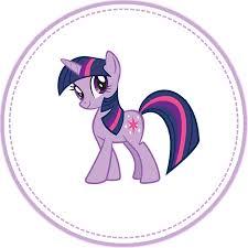 my pony cupcake toppers twilight sparkle cupcake topper by moonprincessluna deviantart