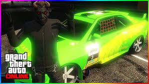 gta 5 online best rare beyond neon green beam paint job modded