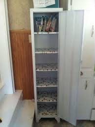 Antique Metal Cabinets For The Kitchen by Old Metal Cabinet Turned Into Pantry Hometalk