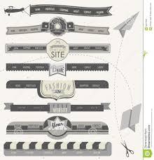 design header paper website headers and navigation elements in vintage style stock