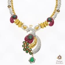 ladies gold necklace images Fancy peacock design gold necklace parmar jewellersparmar jewellers jpg