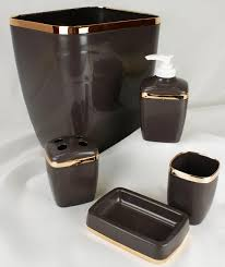 brown bathroom accessories interiors design