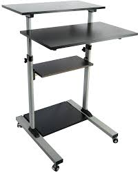 amazon com vivo mobile height adjustable stand up desk with