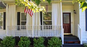porch how to make inexpensive curtain rods for your front porch simple