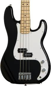 Fender Mustang Bass Black Fender Standard Precision Bass Black With Pau Ferro Fingerboard