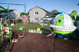 Hgtv Backyard Makeover by My Yard Goes Disney U0027 An All Star Sports Twist On Toy Story Mania