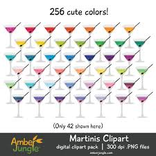 cocktail clipart martini clip art for planner stickers rainbow