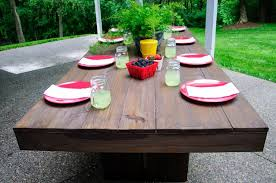 Build Outside Wooden Table by Diy Modern Patio Furniture Plan From Anawhitecom Free Plans To