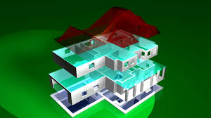build a house 3d perfect d computer animation of house build from
