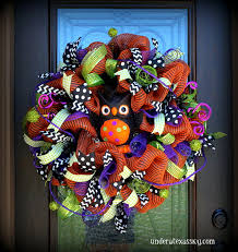 halloween wreaths awesome gorgeous orange and black tulle