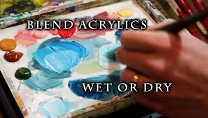 how to blend acrylic paint on canvas justin hillgrove imps and