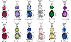 november birthstone name sterling silver cat pendant birthstones cubic zirconia stones charm
