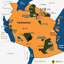 Tanzania Map Tanzania Sandfield Travel
