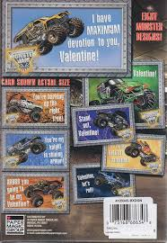 monster truck shows in pa amazon com monster jam trucks valentine cards 32 count office
