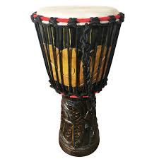 tutorial bongo drum beatbox wood carved djembe african hand drum mid sized didge project