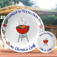 personalized grill platter personalized bbq gifts bbq platter with grill design