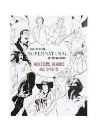 supernatural monsters demons and spirits coloring book topic