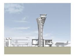 a cross section drawing of our new control tower building for