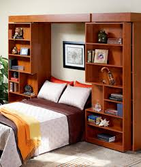 Murphy Bed Shelves Bookshelf Murphy Bed With Contemporary Family Room And Bed Black