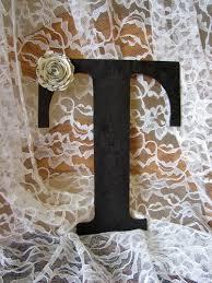 black letter t wall art decor wood initial wedding newlywed home