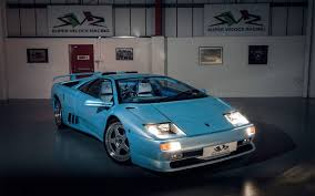car lamborghini blue ice blue lamborghini diablo sv from super veloce racing insidehook