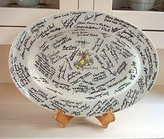 bridal shower signing plate bridal shower guest book everyone signs a special plate for the