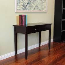 Espresso Console Table Espresso Sofa Table Wooden End Side Tables Accent 2 74 14 Archer