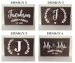 large last name sign makes a perfect gift for a new couple or